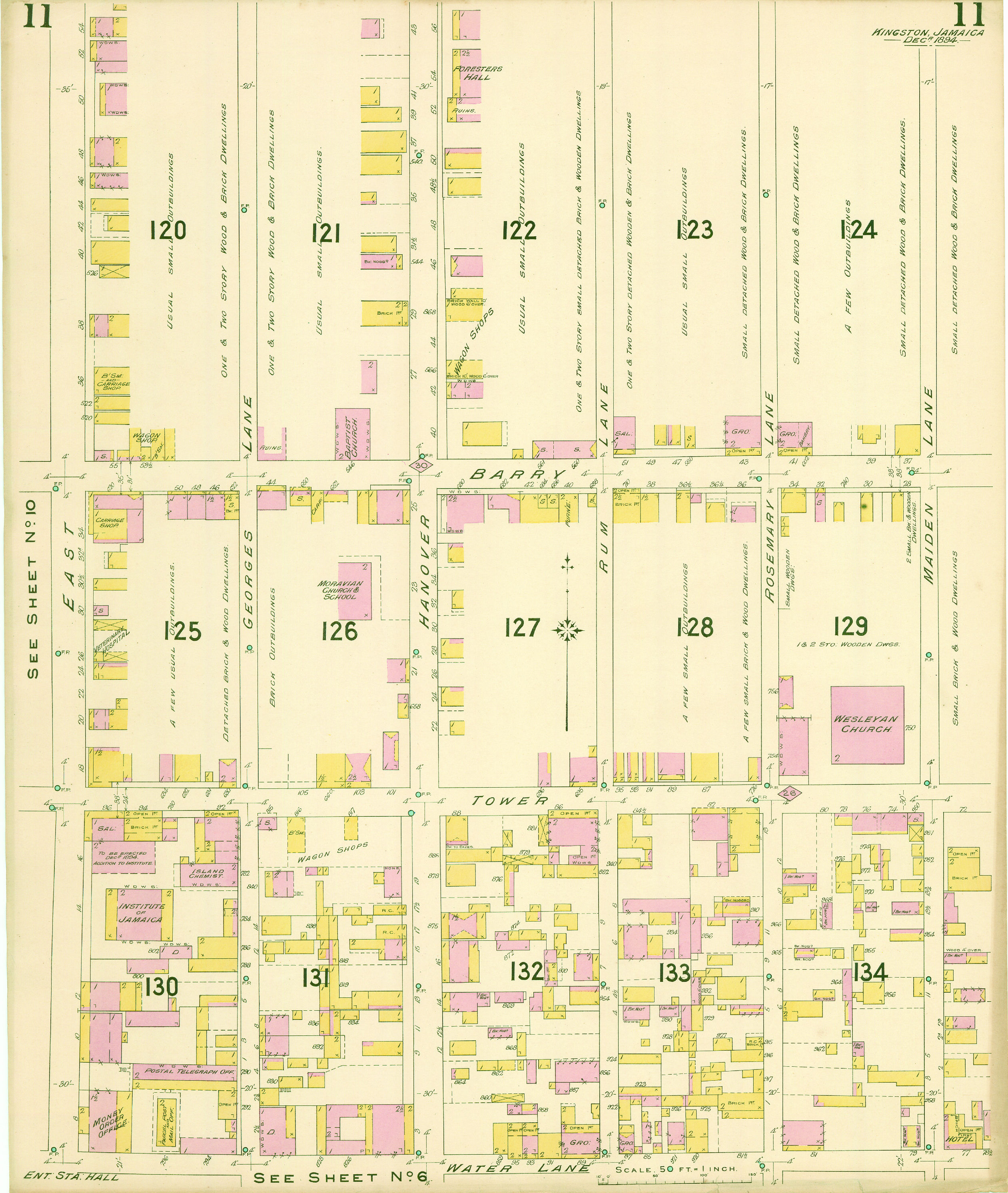 Kingston Jamaica detailed Insurance Maps 1894  lead page